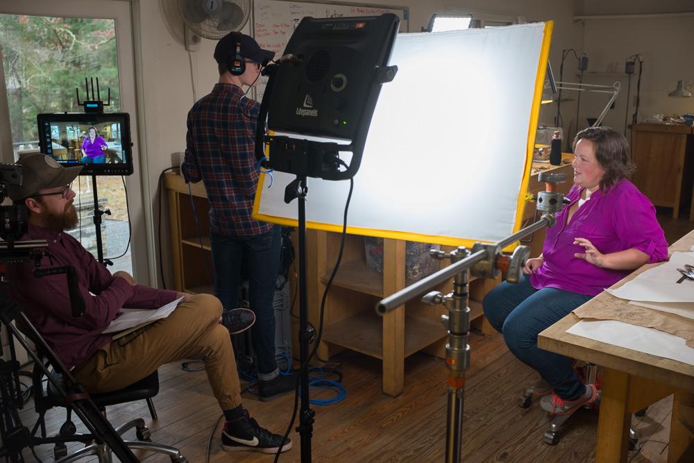 Spike Hoban interviewing Kathleen Kennedy