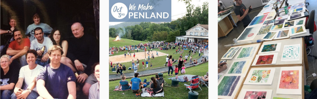 three #WeMakePenland posts from Penland friends on Instagram