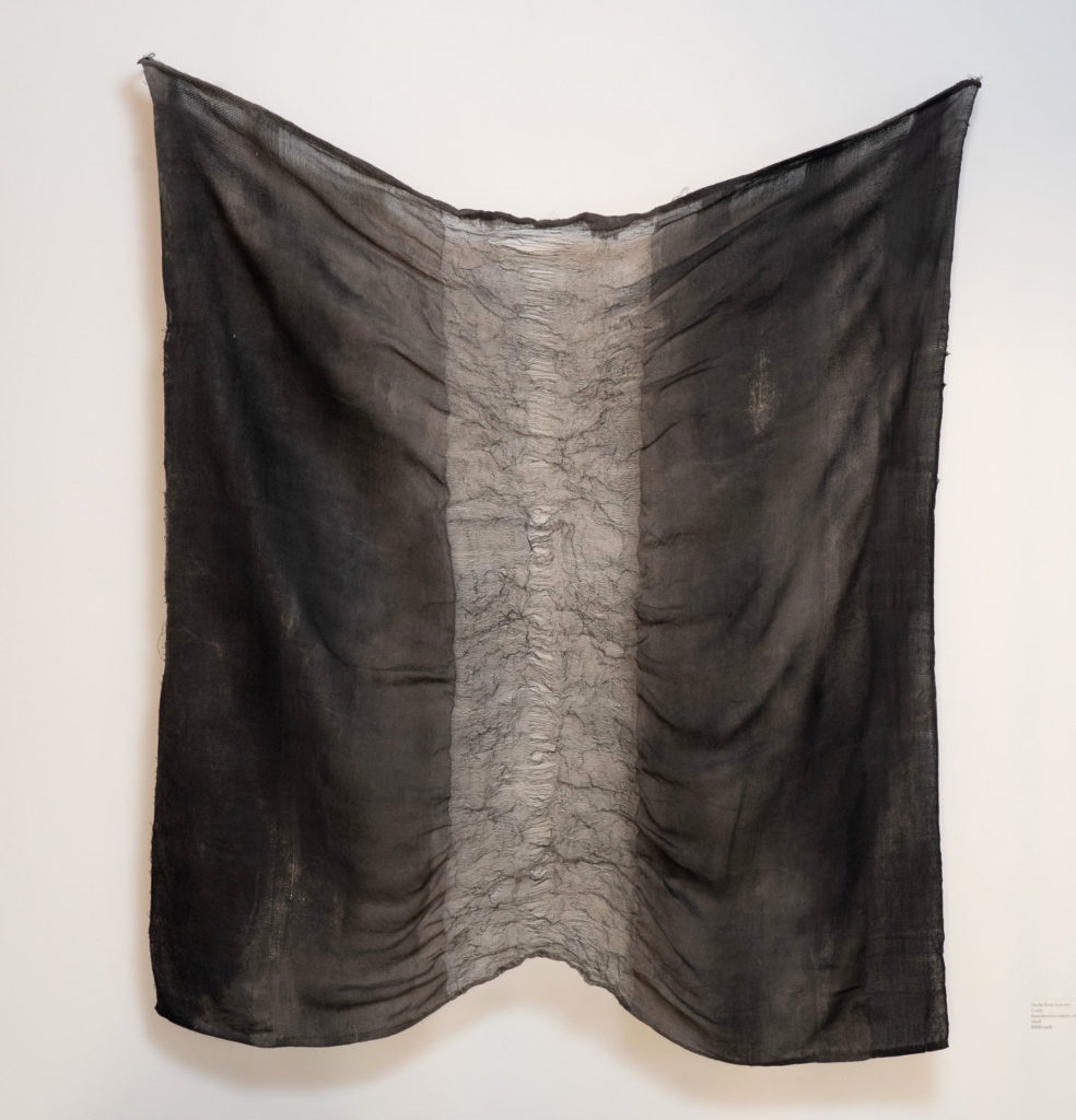 "Sarah Rose Lejeune, ""Loads,"" handwoven cotton, silk, stainless steel"