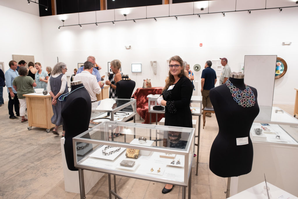 Thanks to our wonderful contributing artists for the beautiful pieces they donate to Penland and to our excellent volunteers for staging everything!