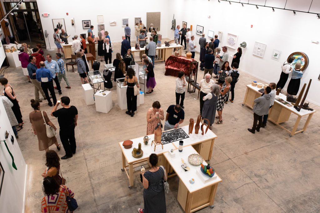 Work up for bidding at Saturday's auction was displayed in the new social hall at Northlight (this shot was taken from the 2nd floor balcony!).