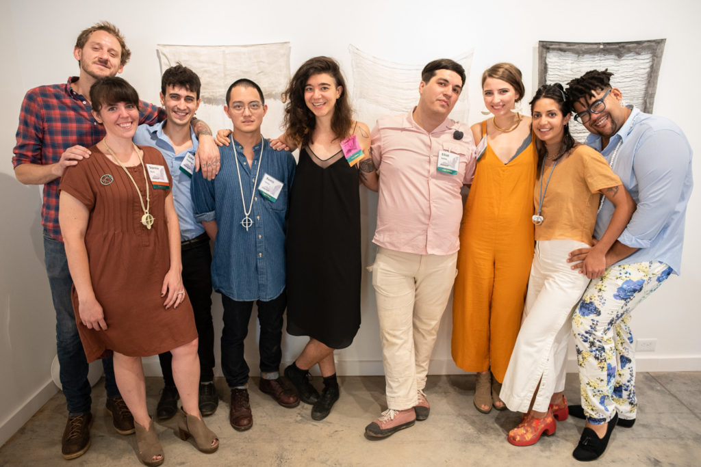Meanwhile, up at Northlight, Penland's core fellows also had an open house to show off their work.