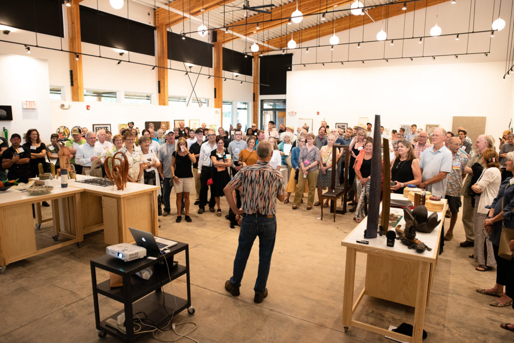 On Friday afternoon, students and friends of woodworker Doug Sigler gathered to honor him as Penland's 2018 Outstanding Artist Educator.