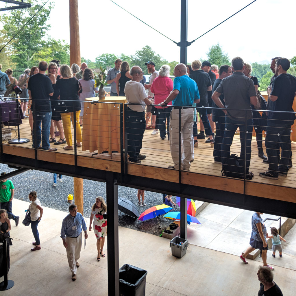 Two levels of porches provided ample space for catching up with friends and enjoying a drink.