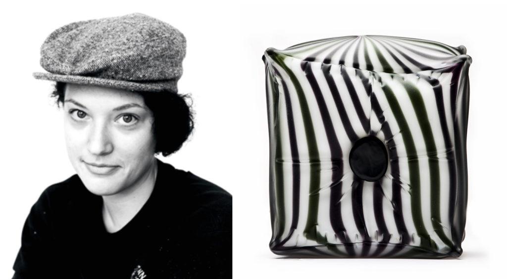 SaraBeth headshot and glass pillow