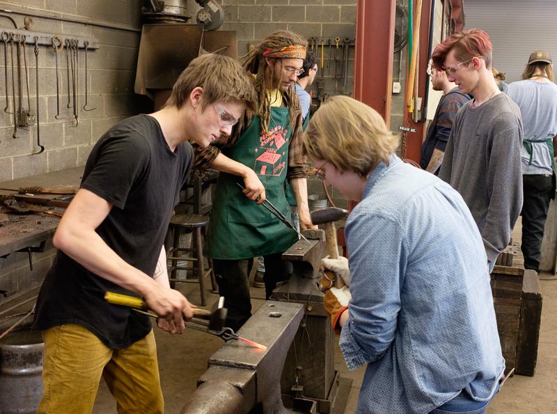 Forging steel hooks