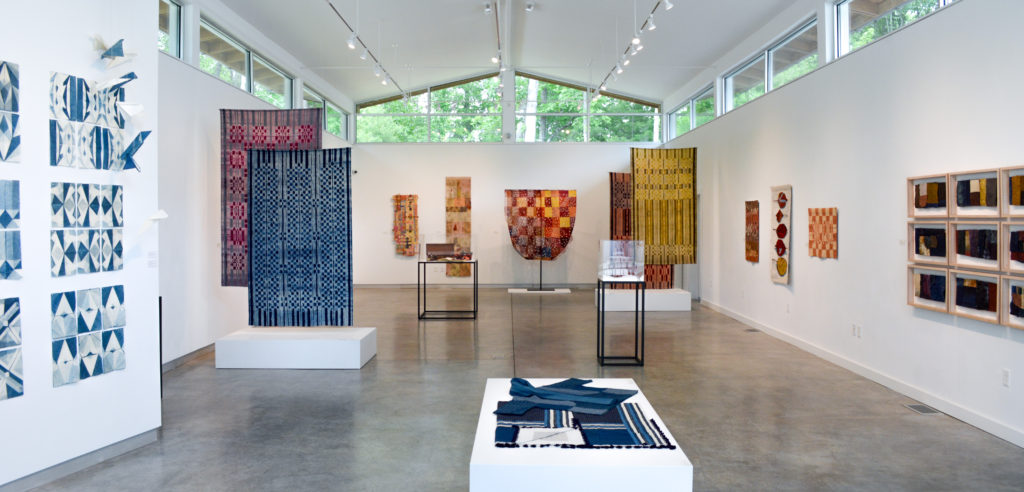 "installation view of ""Further Evidence"" at the Penland Gallery"