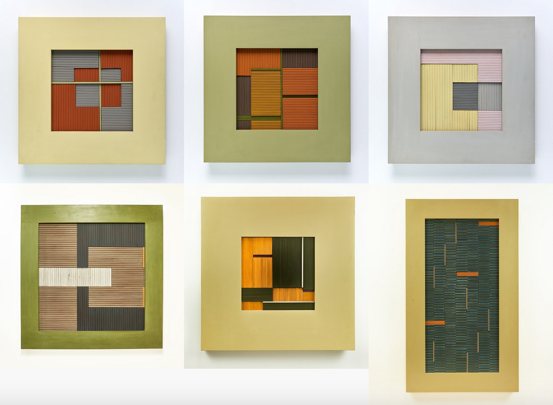 "Six new ""wooden weavings"" by Wendy Maruyama"