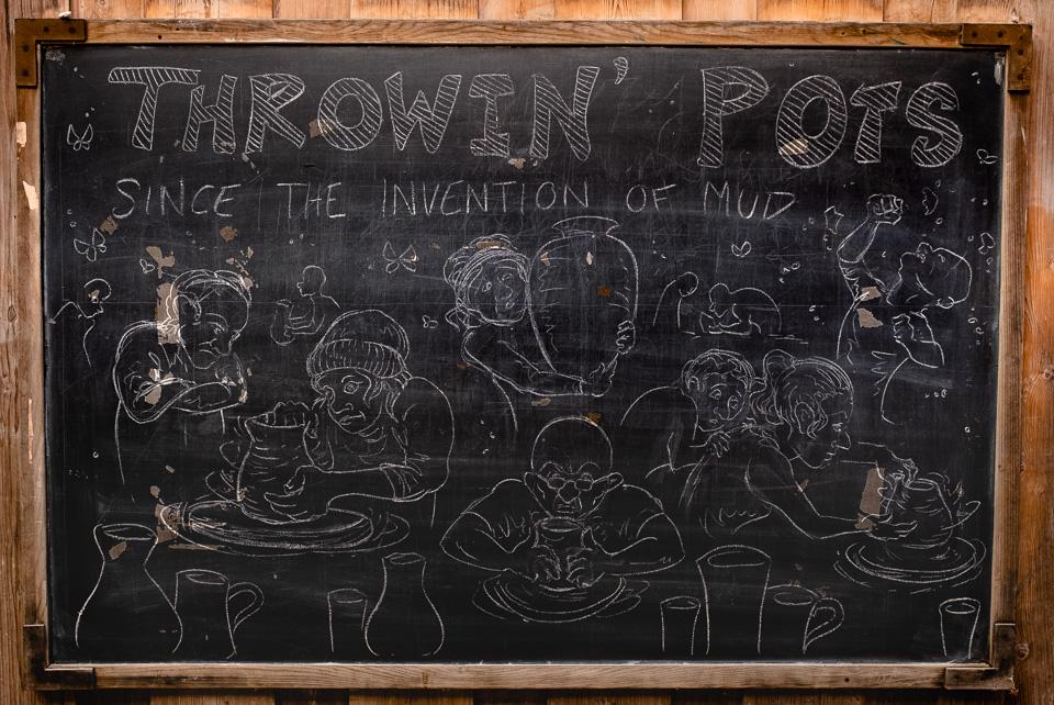 Chalkboard drawing at Penland school