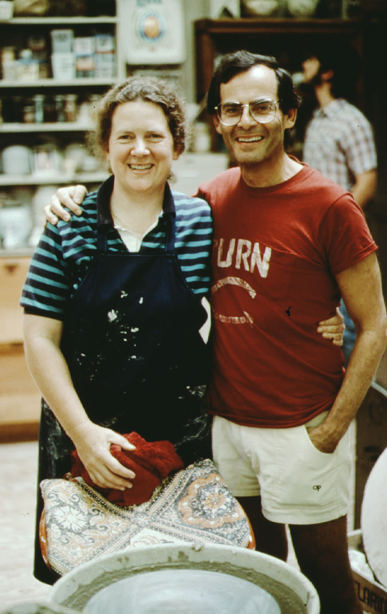 Bobby Kadis and Cynthia Bringle at Penland in 1985