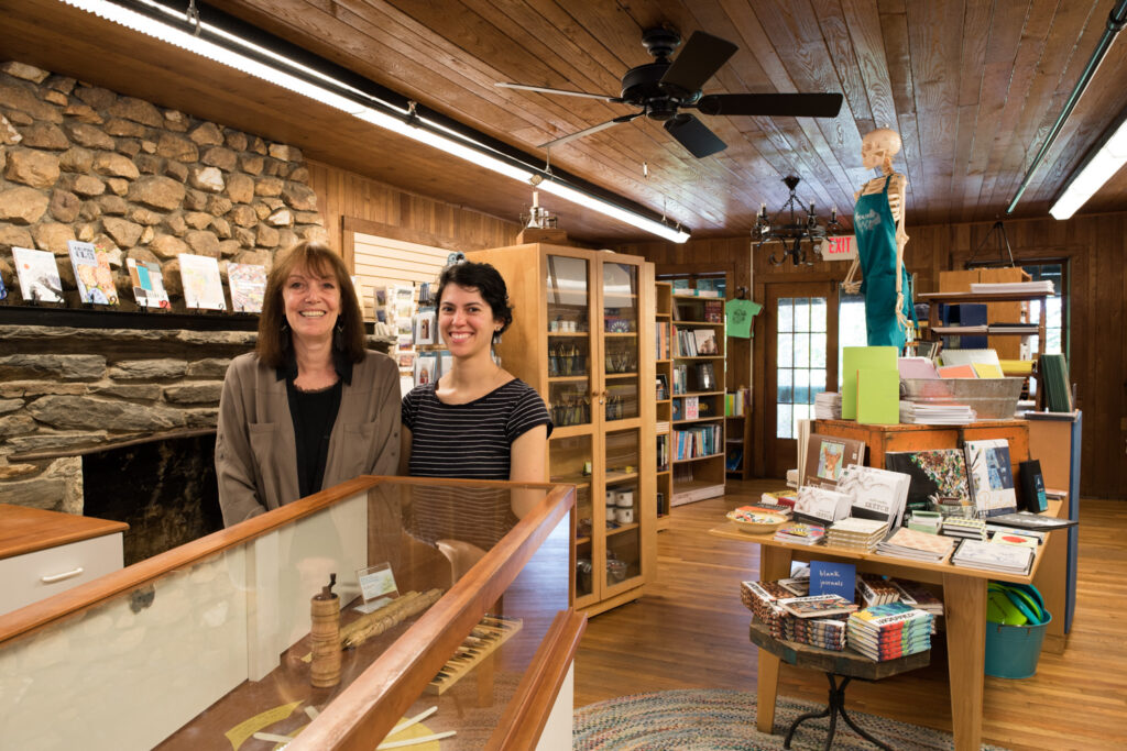 Sallie Fero and Natalie Monaghan at the Penland supply store