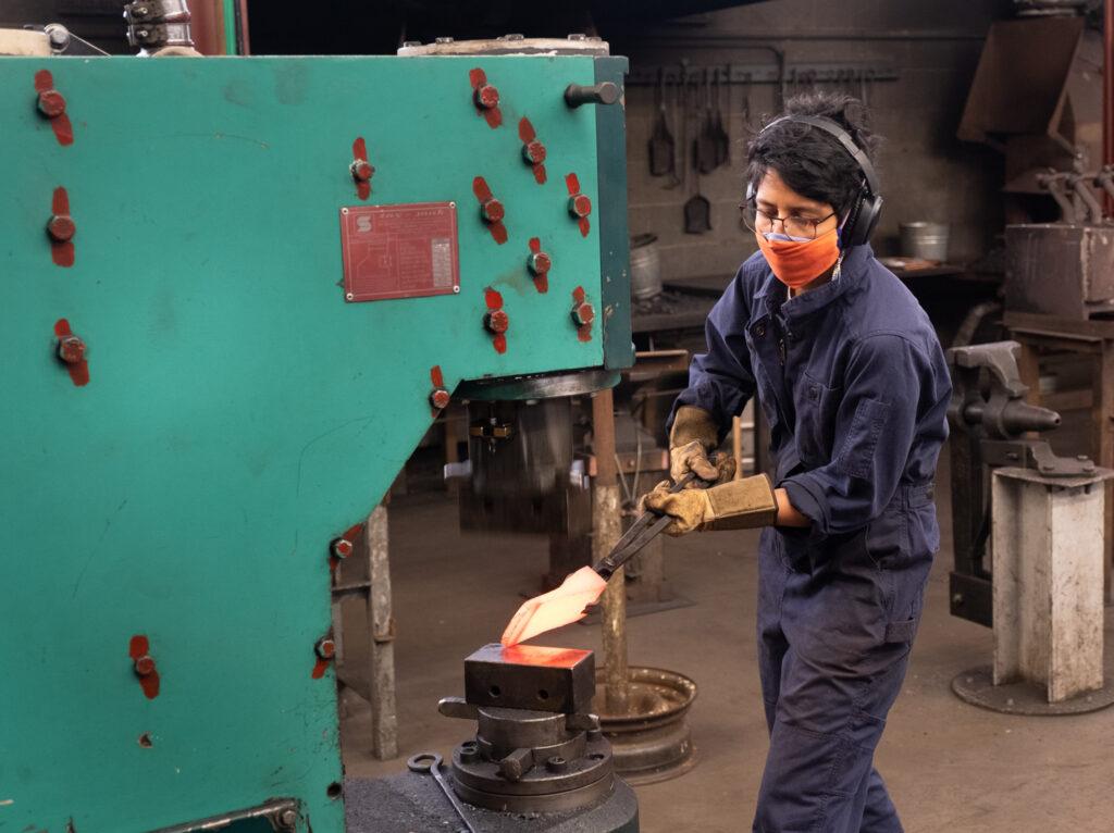 maria fernanda nunez in the Penland iron studio