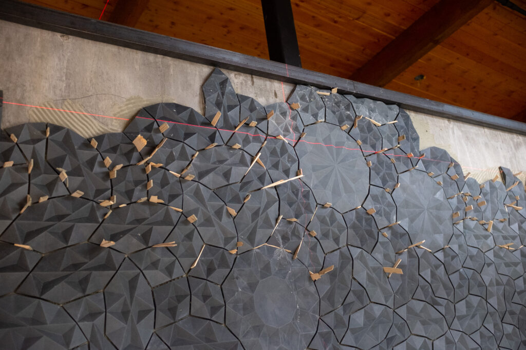 Tile wall installation