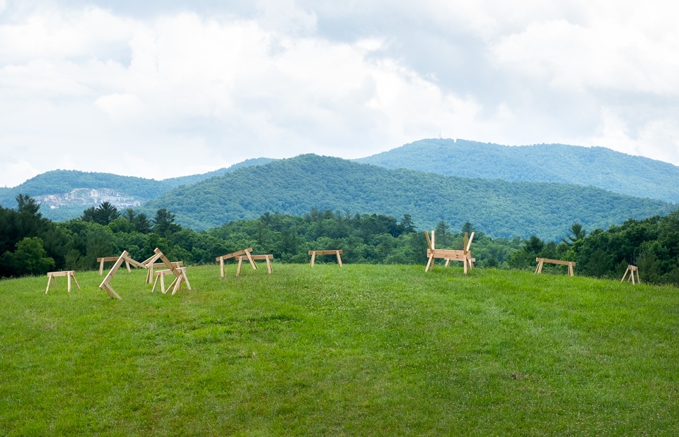 sawhorses on the penland knoll