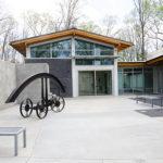 Sculpture Courtyard with Bill Brown sculpture, Spring 2016
