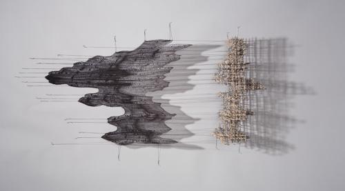 sculptural fiber installation