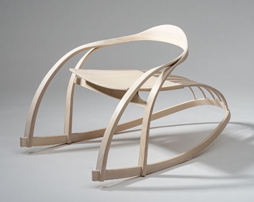 bent ash rocking chair