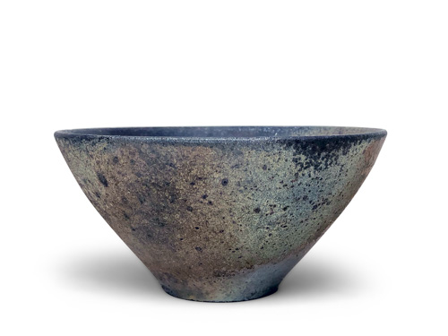 speckled grey bowl by Lindsay Oesterritter