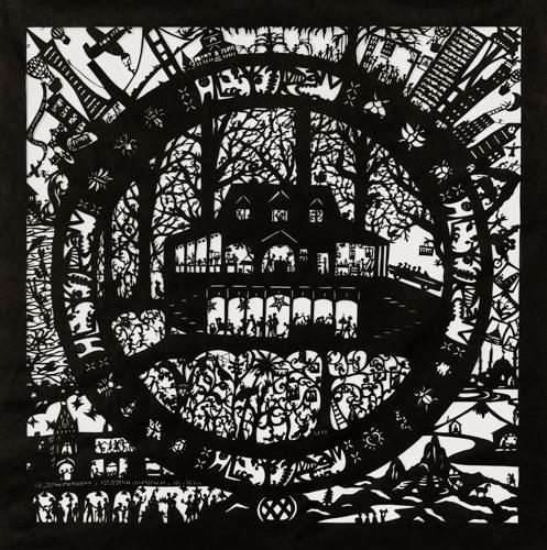 intricate papercut scene by Beatice Coron