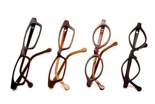 four pairs of handmade spectacles