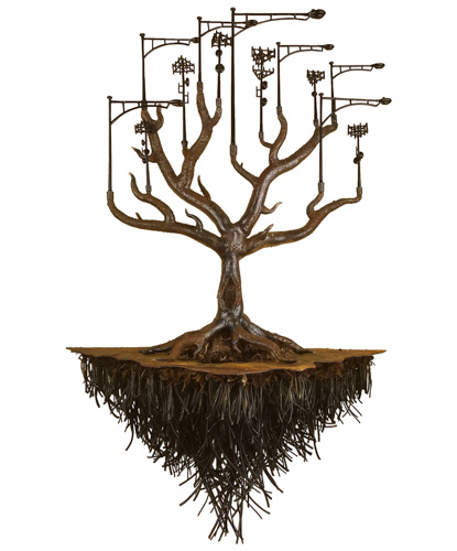 tree and root sculpture