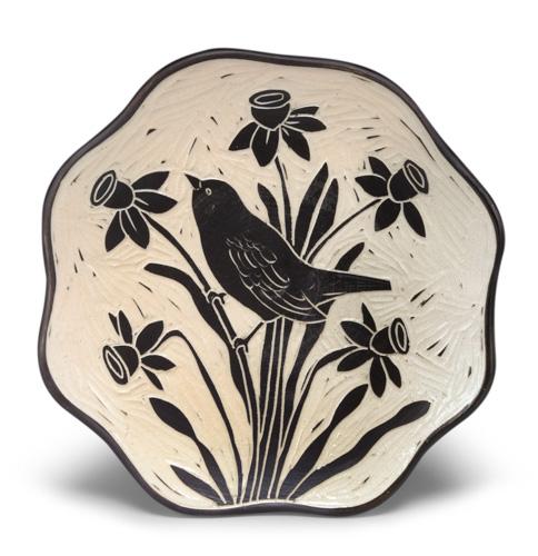 "Karen Newgard, ""Luncheon Plate,"" salt-fired porcelain, terra sigillata, 8 x 11/2 inches"