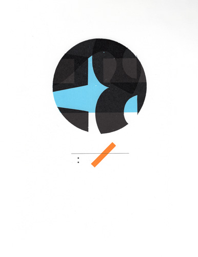 abstract typographic composition