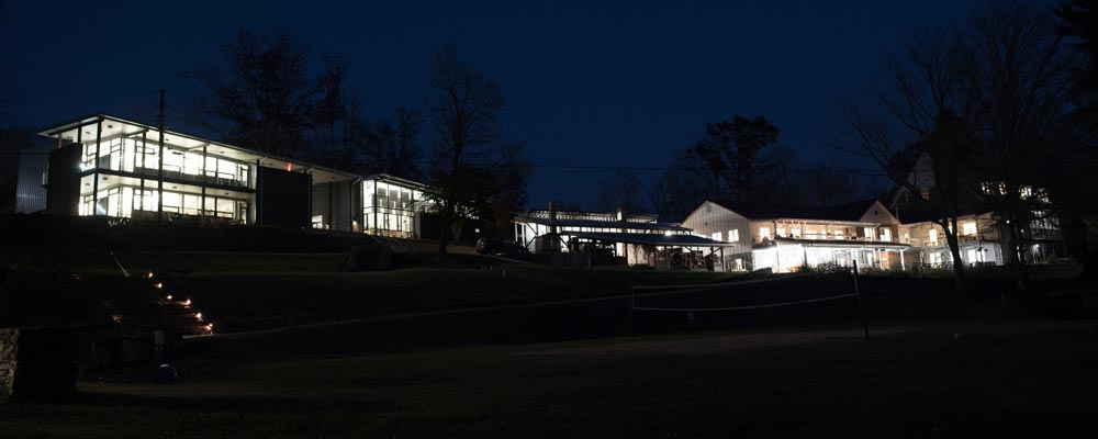 Penland Campus at night