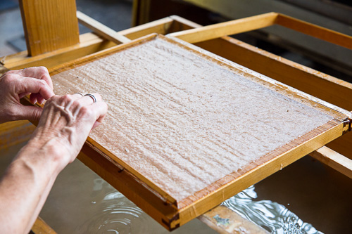 papermaking in process by Radha Pandey