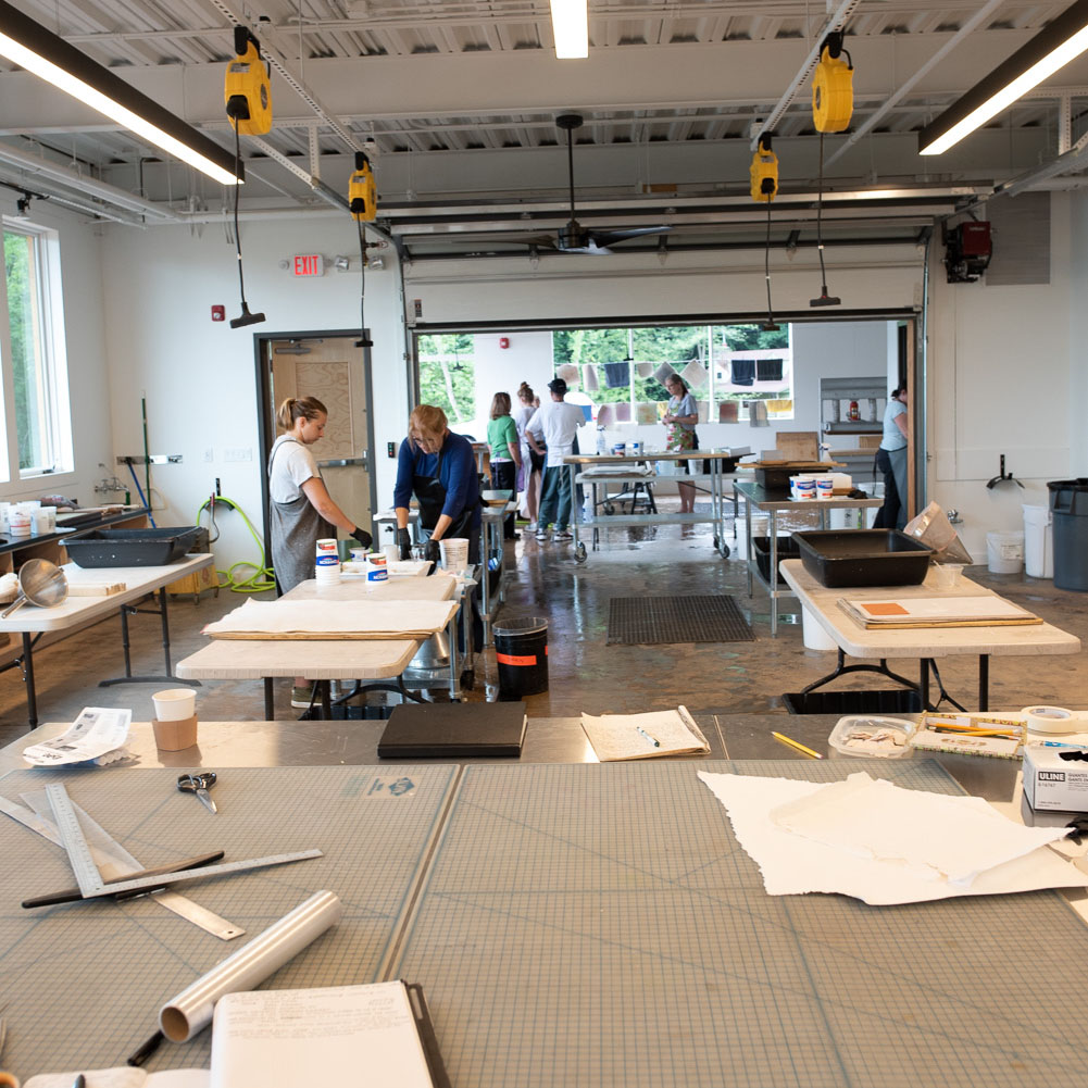 view of the studio from the dry work area