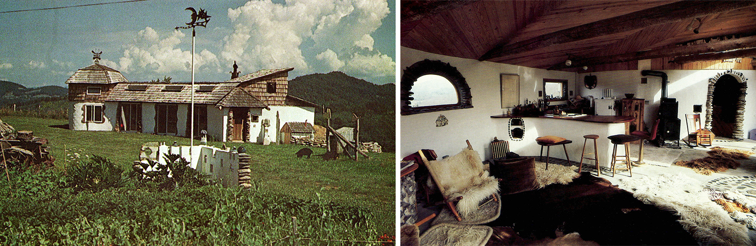 two views of the house that Louise and Don built