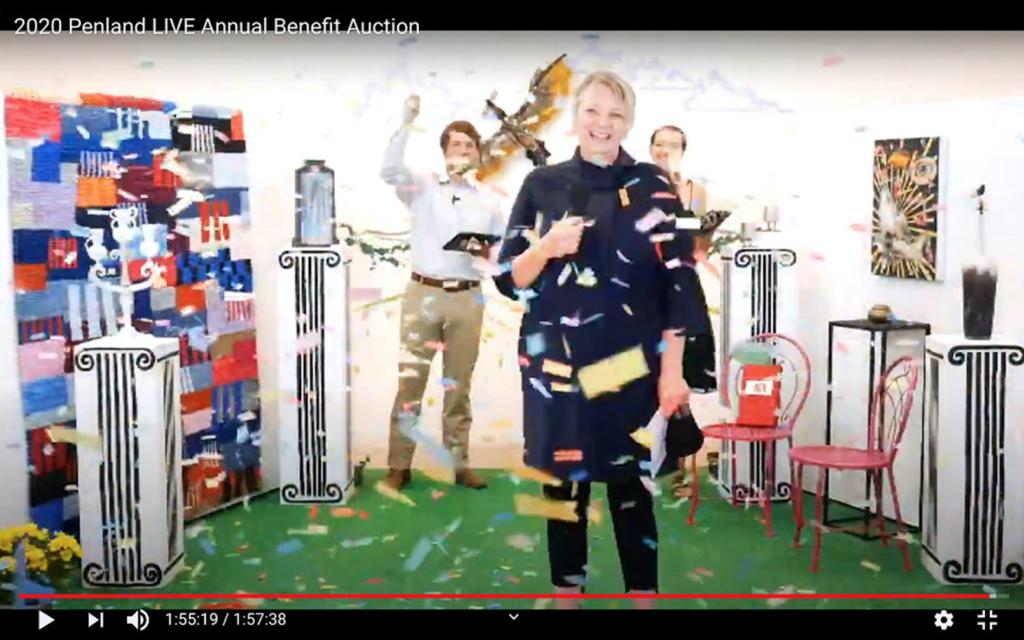screenshot of the auction livestream celebration