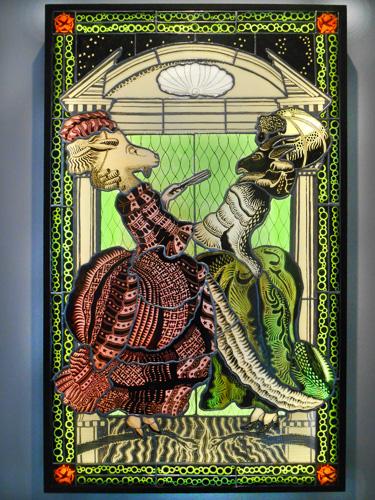 stained glass by Joseph Cavalieri