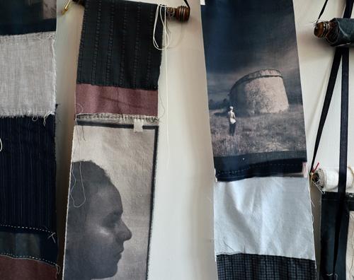 photographs on cloth by Cindy Steiler