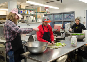 core fellows working in the Penland kitchen