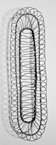 Ellen Wieske, Basket, steel wire, 5 x 5 x 24 inches